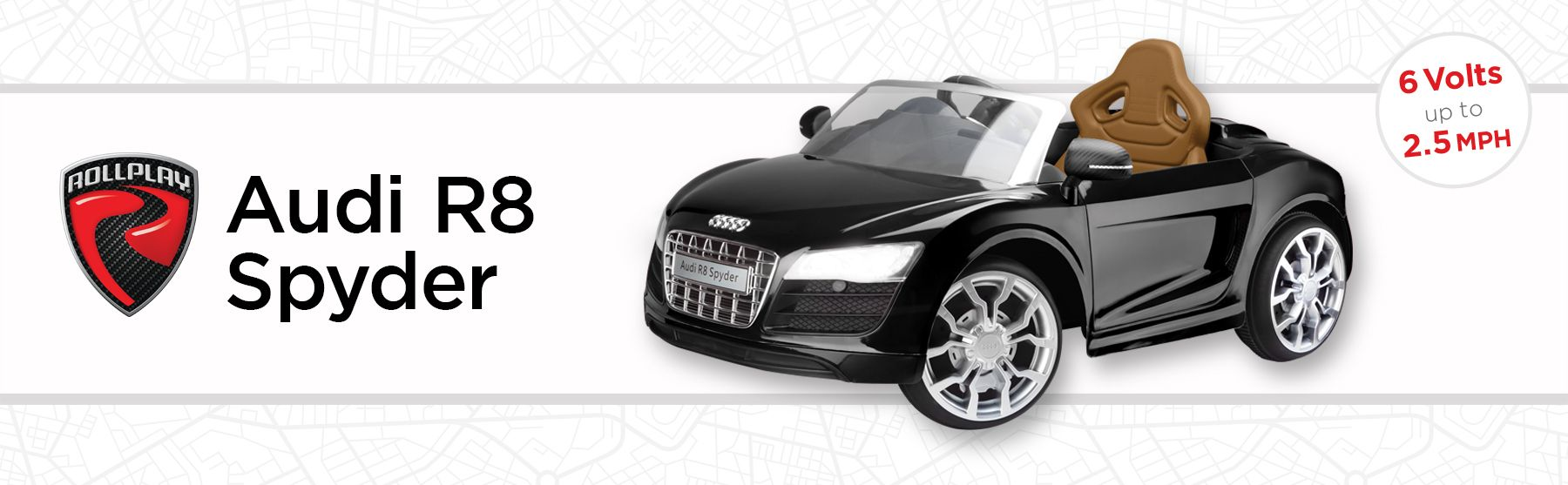 Rollplay Audi R8 Spyder 6 Volt Battery Ride-On Vehicle