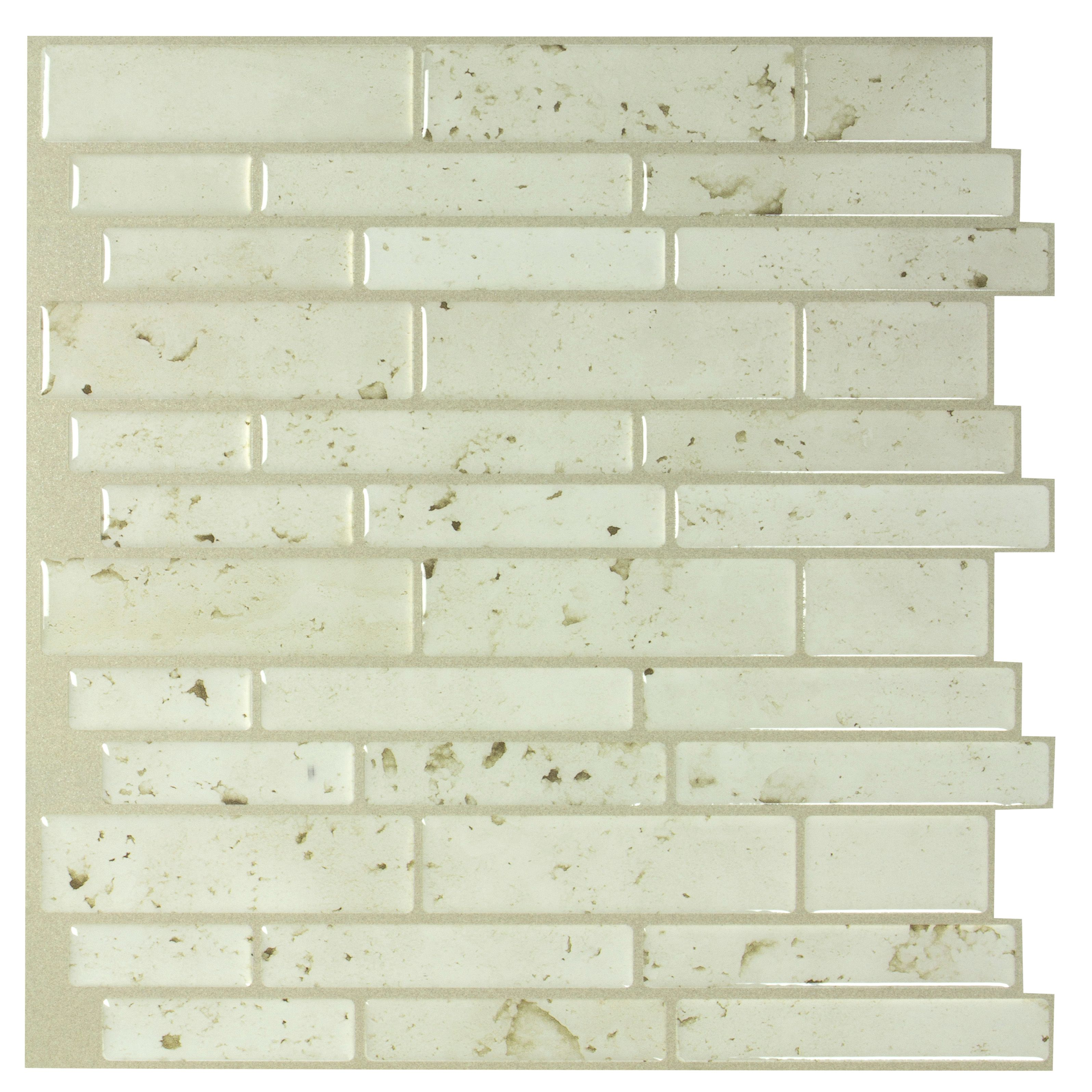 - Peel&Stick Mosaics Peel And Stick Washed Stone 10-in X 10-in