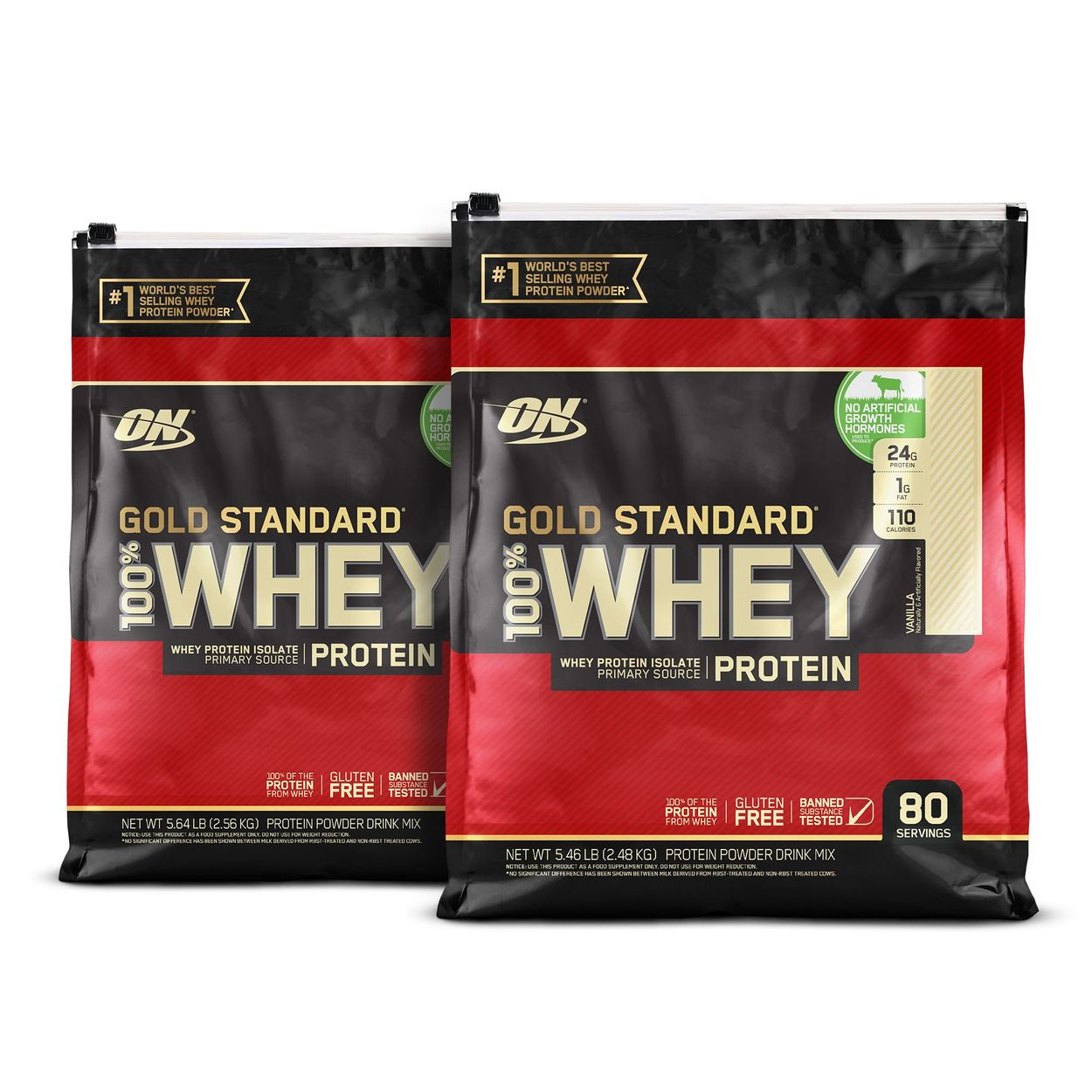 Optimum Nutrition Gold Standard 100 Whey Protein 80 Servings
