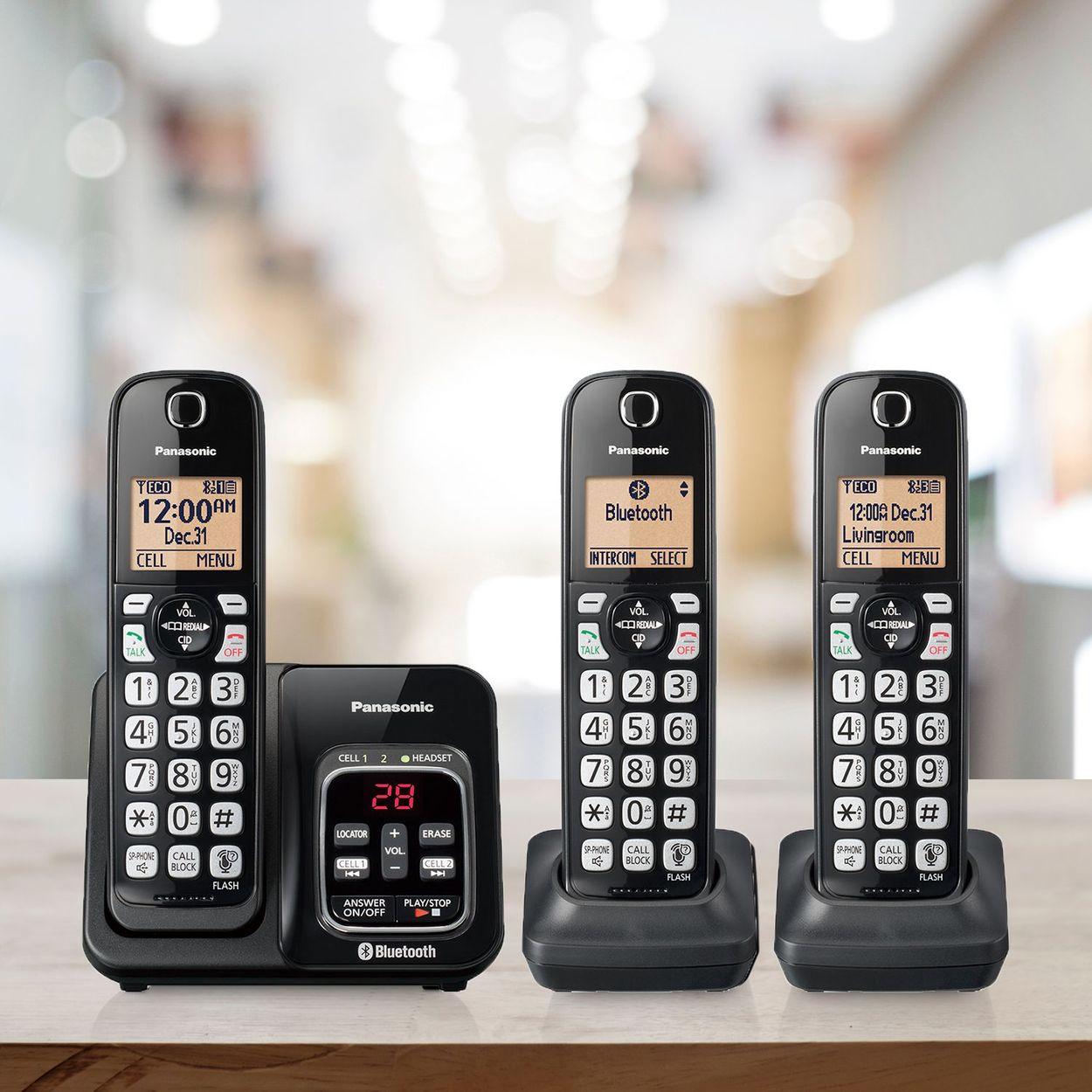 Panasonic Kx Tg833 Dect 6 0 Bluetooth 3 Handset Phone Bundle