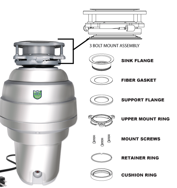 Costco Garbage Disposal >> American Standard 1 25 Hp Food Waste Disposer