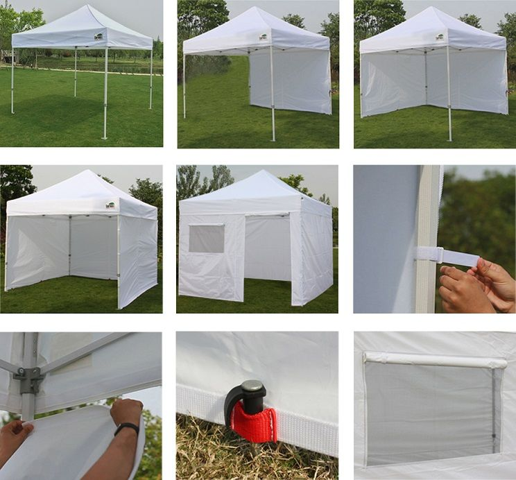 Eurmax 10' x 10' Instant Canopy with Sidewalls