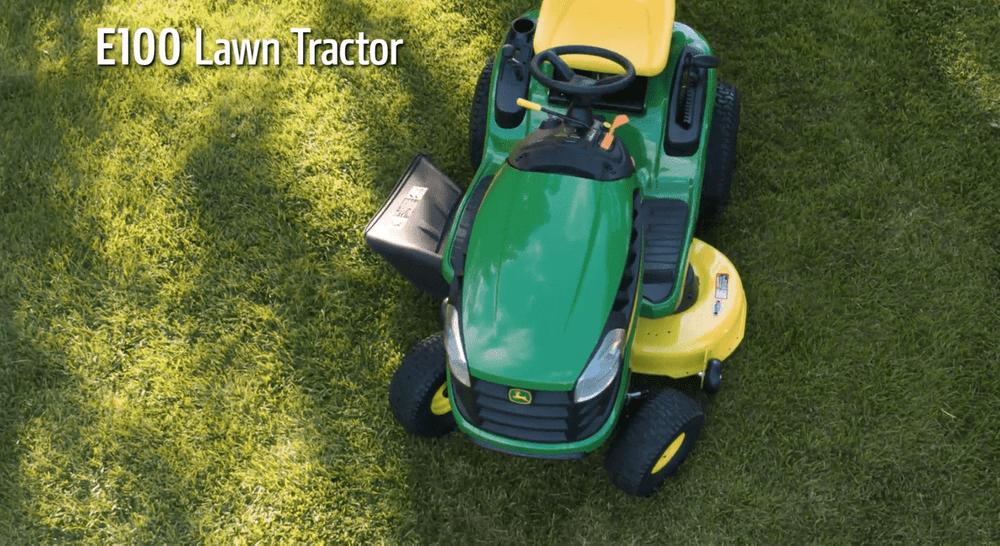 John Deere E100 17 5-HP Automatic 42-in Riding Lawn Mower