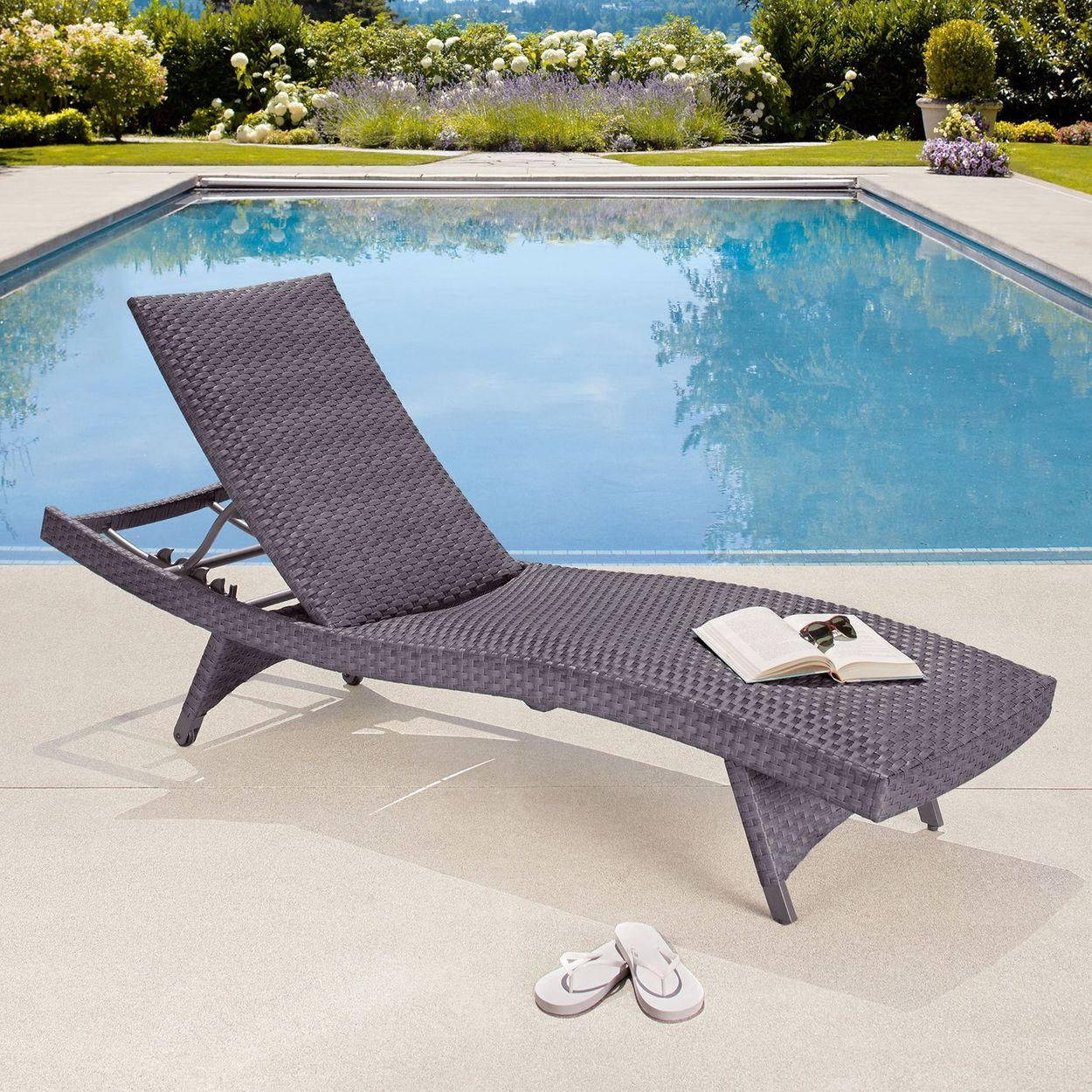 - Palm Aire Woven Padded Chaise Lounge, 2-pack