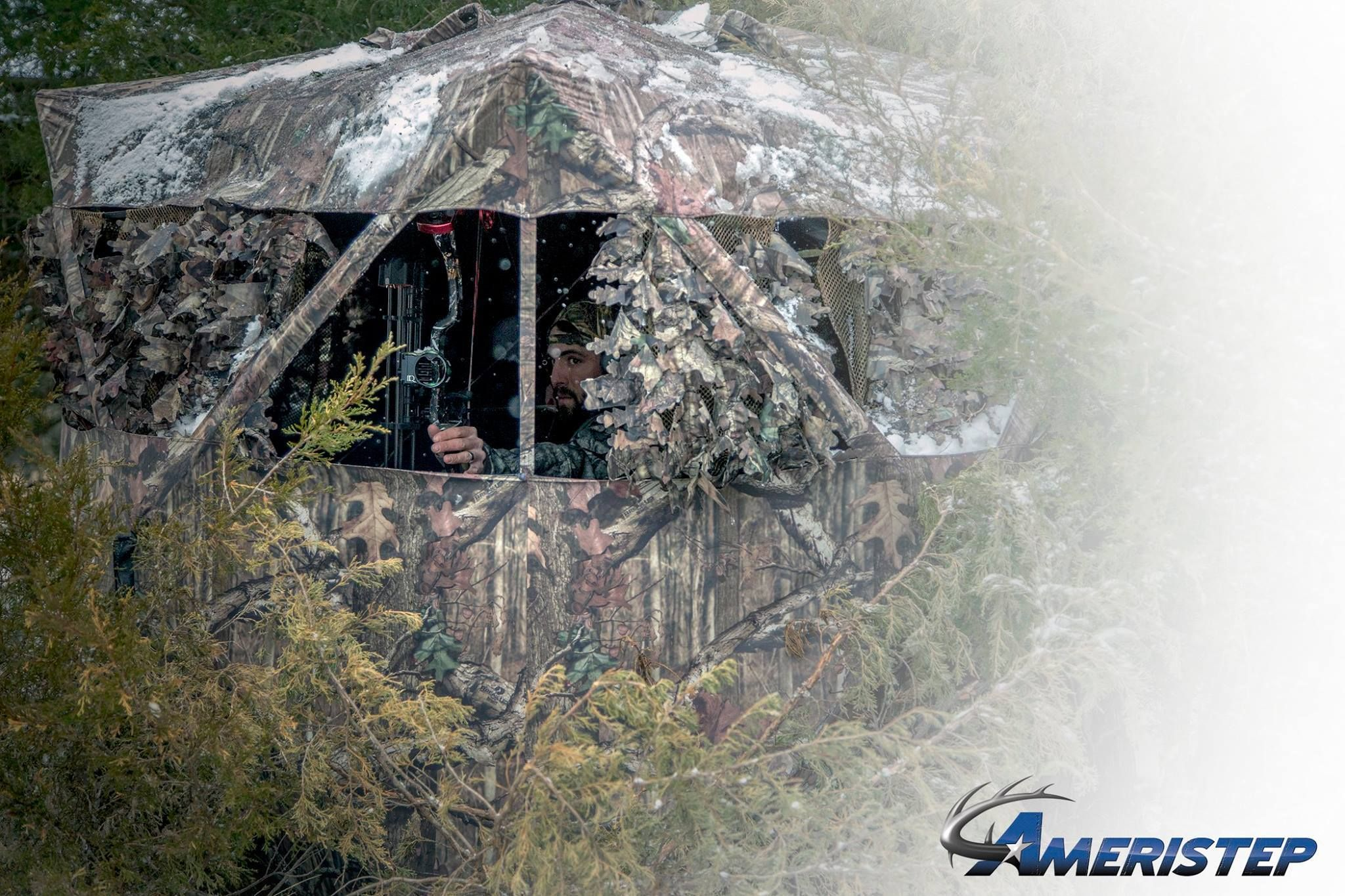 Ameristep Gunman Hunting Blind Realtree Edge Camouflage Walmartcom