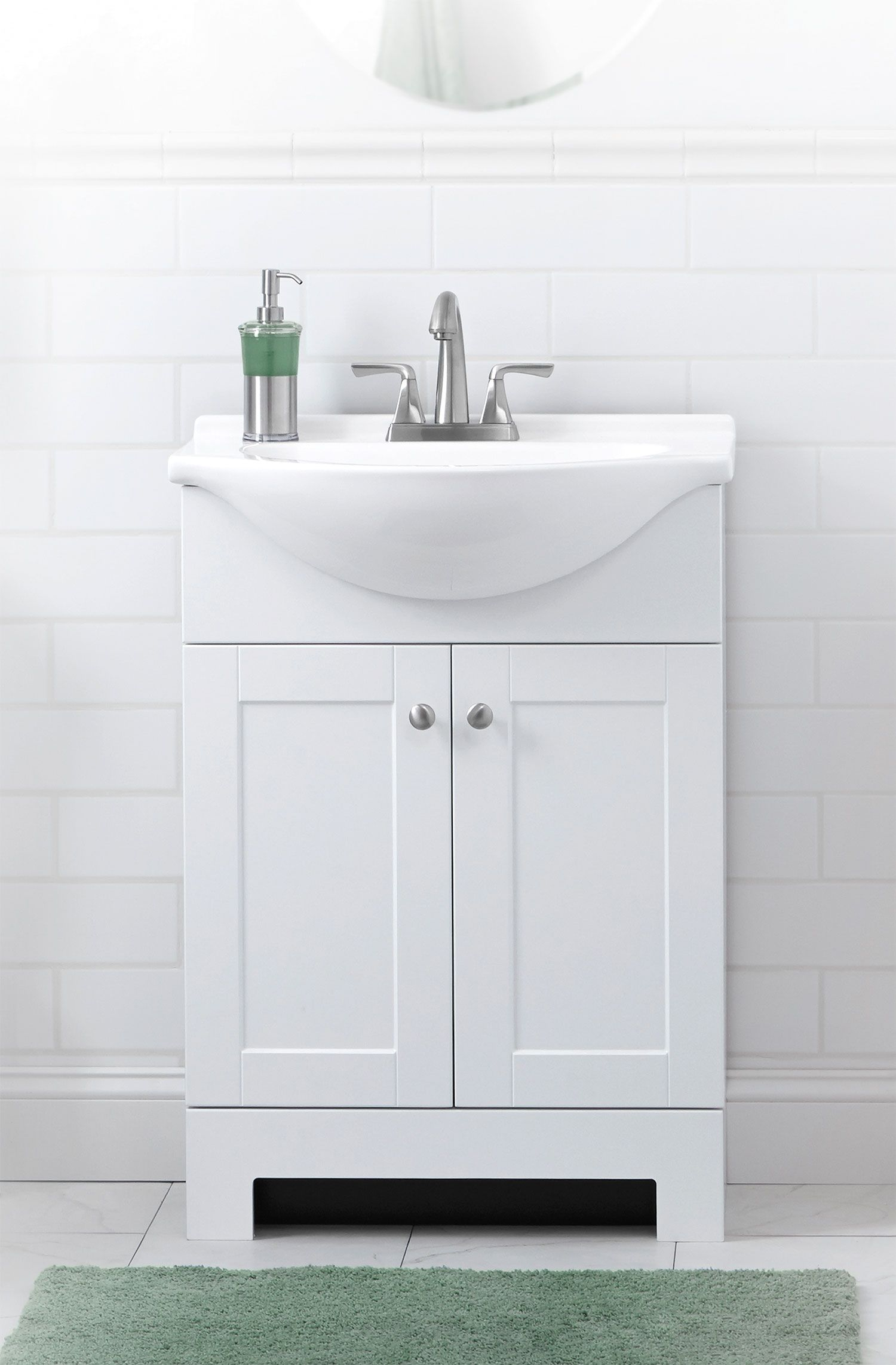 Remarkable Style Selections Euro 25 In White Single Sink Bathroom Beutiful Home Inspiration Xortanetmahrainfo