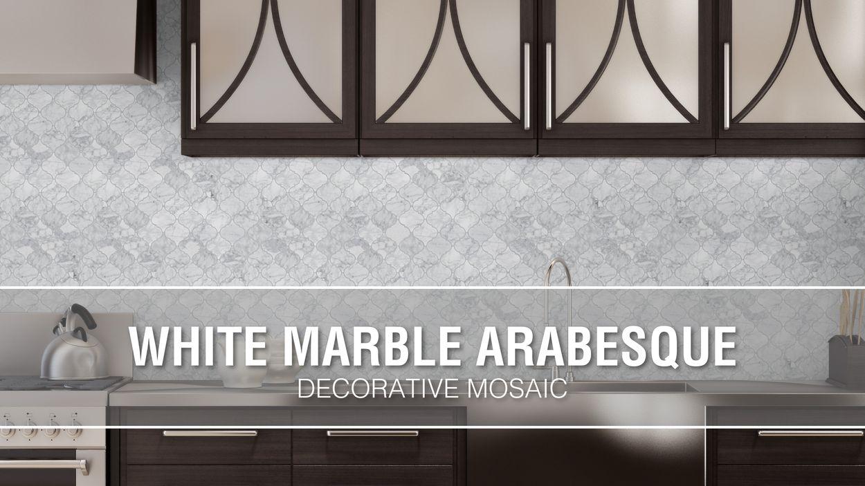 - Elida Ceramica White Marble Arabesque 12-in X 12-in Glossy Lantern