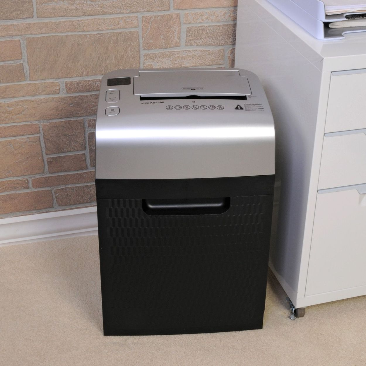Lifestyle image of unit by filing cabinet