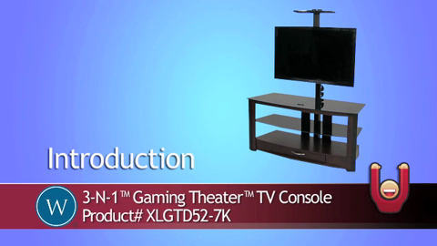 3 N 1 Gaming Theater Tv Console Xlgtd52 7k Xlgtd52 7k Video