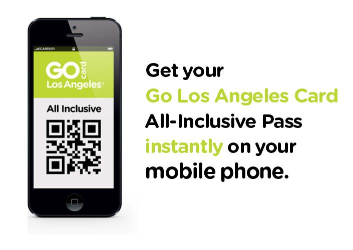 Go Los Angeles 4-Day E-Card with Universal Studios Hollywood