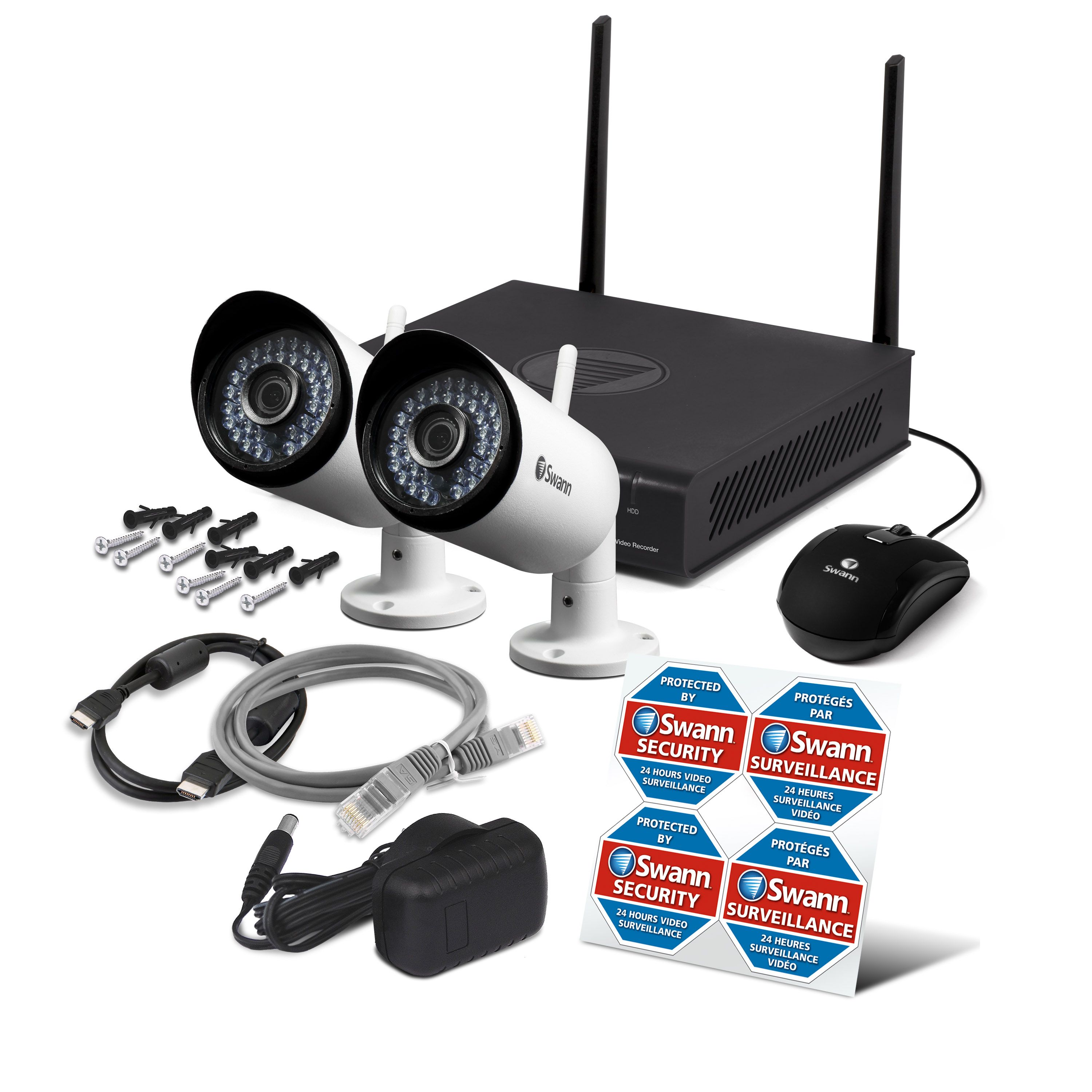 Swann 1080p Wi-fi Security Kit With 2 Cameras | Home Security | More
